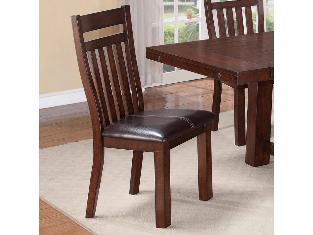 Warehouse M 1258Slatted Side Chair