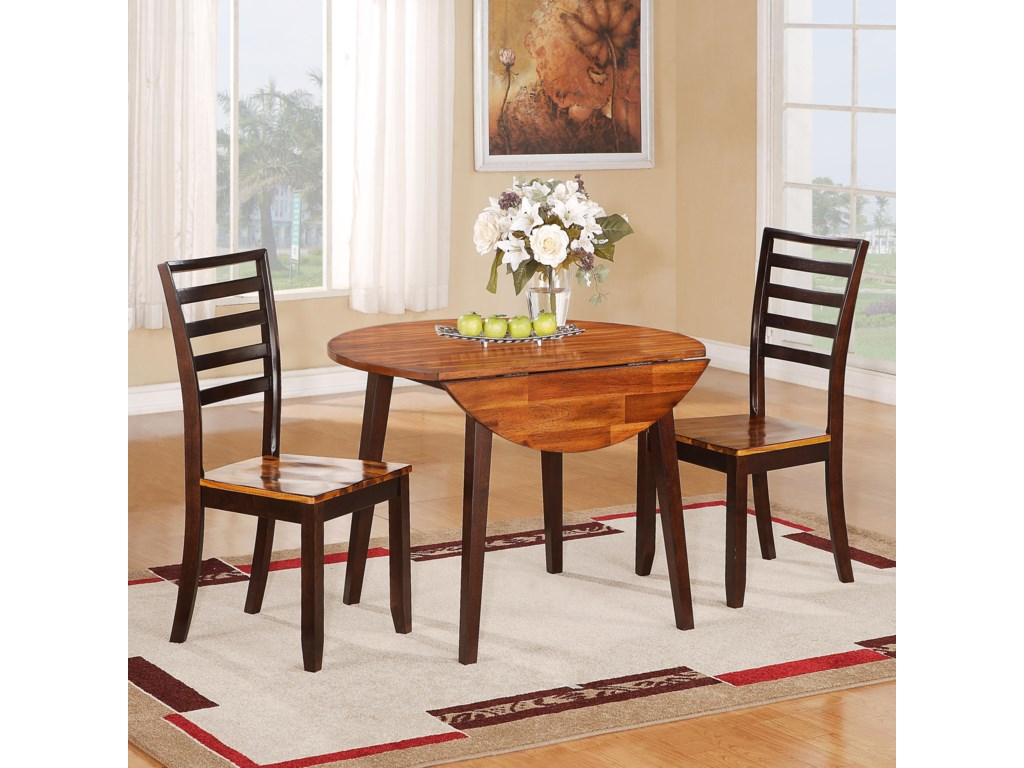 Holland House 1267 Dining3 Piece Table and Side Chair Set