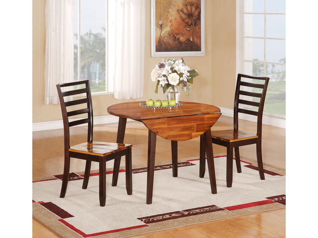 Holland House 1267 DiningRound Table with Two 8.5