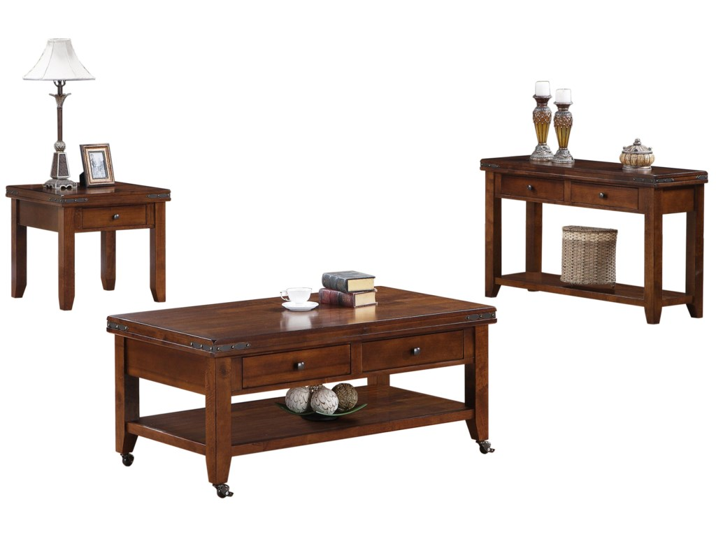 Shown with End Table & Sofa Table