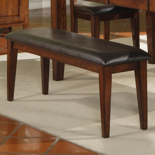 Holland House 1279 Mango Wood Bench with Upholstered Seat