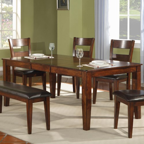 Holland House 1279 Modern Solid Mango Wood Dining Table