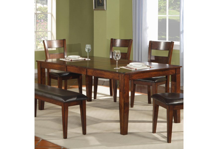 Warehouse M 1279 4939454 Modern Solid Mango Wood Dining Table Pilgrim Furniture City Dining Tables