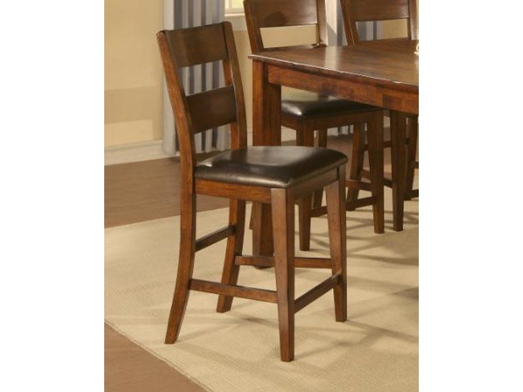 Holland House 1279Counter Height Ladder Back Chair with Uphols