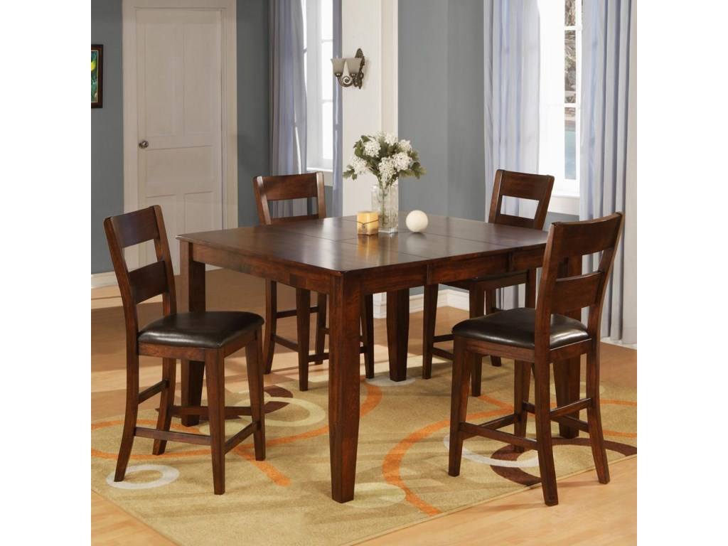 Holland House 1279Pub Table Set with 4 Bar Stools