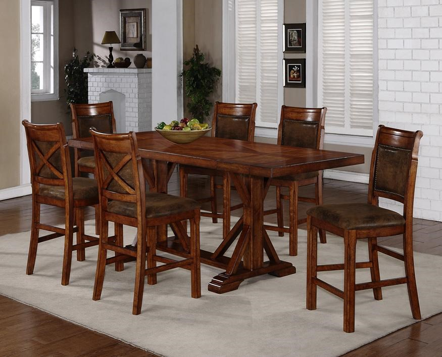 dining room chairs counter height. morristown morristown-pkg-ct6s 7-piece counter height trestle table \u0026 x-back chair set by holland house dining room chairs h