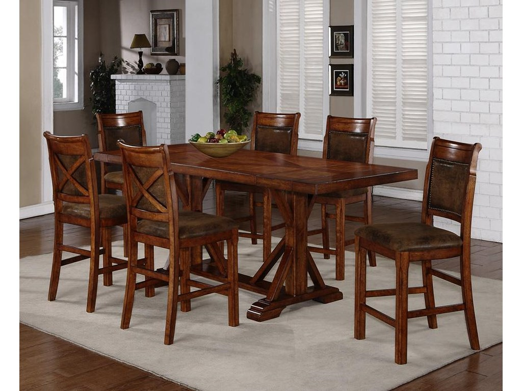 Holland House Morristown7-Piece Counter Height Dining Set
