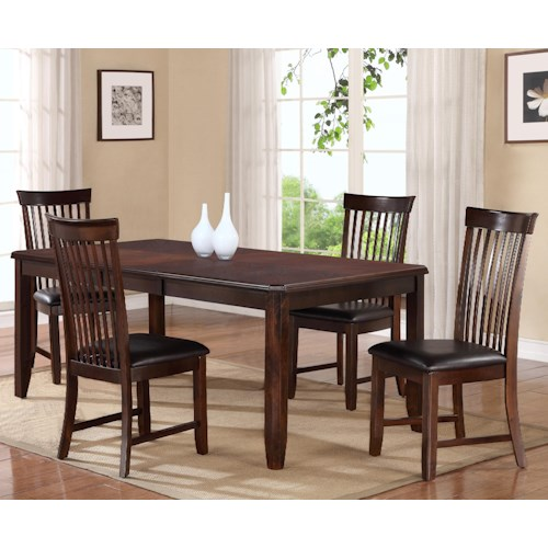 Holland House 19003 5-Piece Dining Table Set
