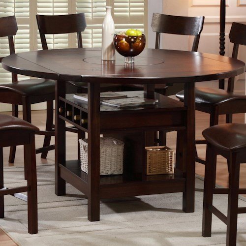 Holland House Cory Counter Table with Lazy Susan