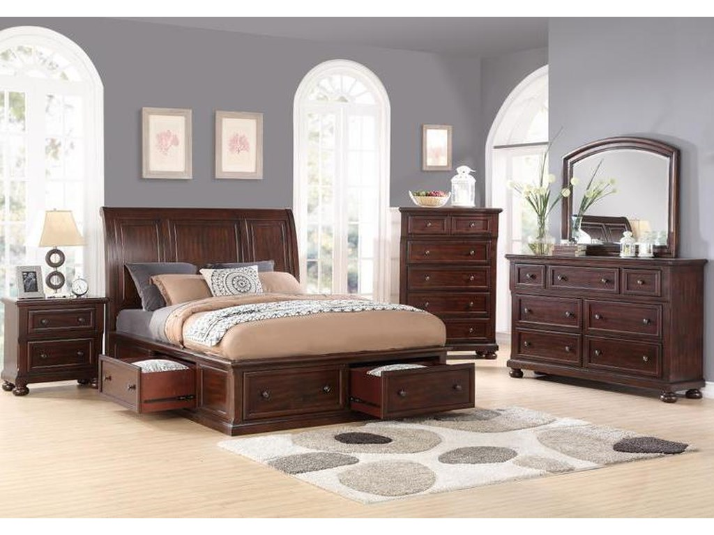 Holland House 2638King Sleigh Storage Bed