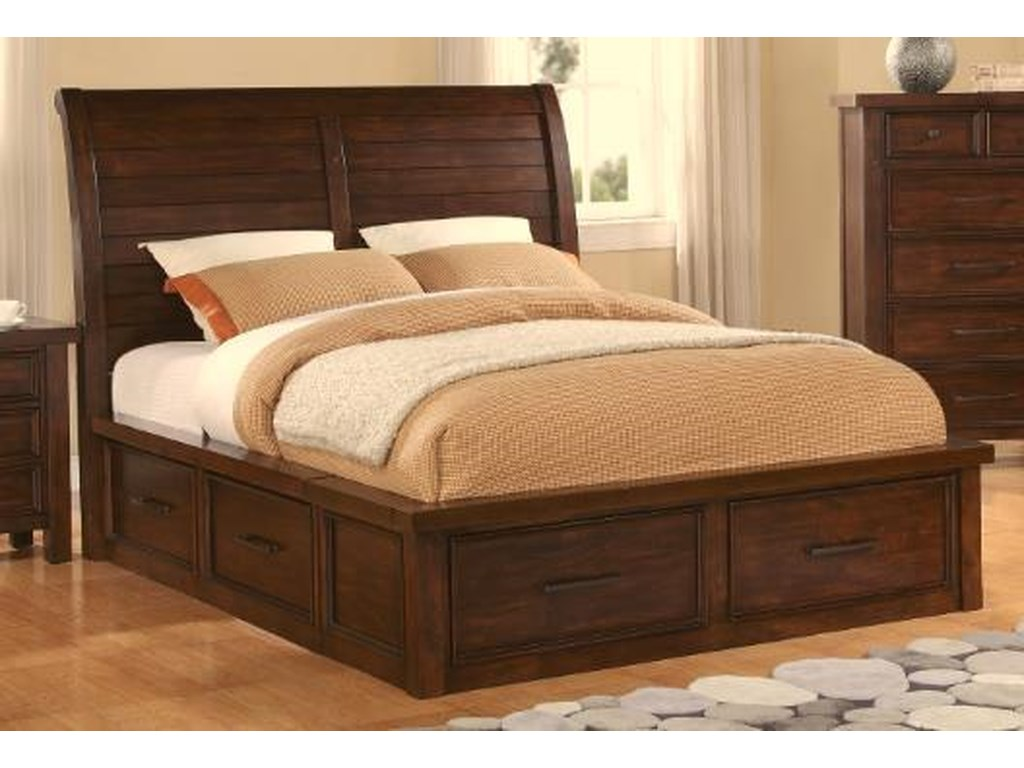 Holland House 2678Sonoma QN Sleigh Bed with Storage