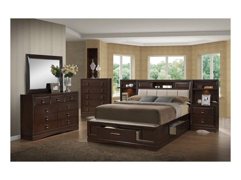 Holland House FranklinQueen 4-Piece Bedroom Group