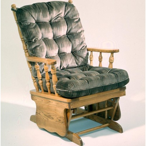 Holland House 5860 Traditional Glider Rocker with Cushion Seat