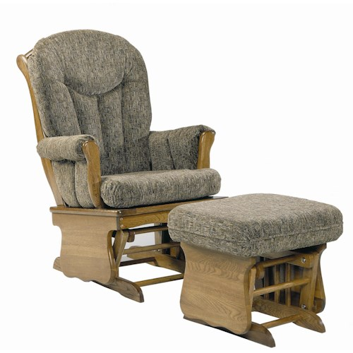 Holland House 58 Glider Chair and Ottoman Combination