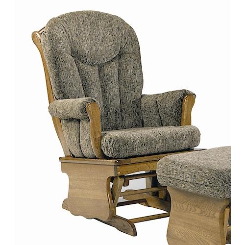 Holland House 58 Upholstered Oak Glider