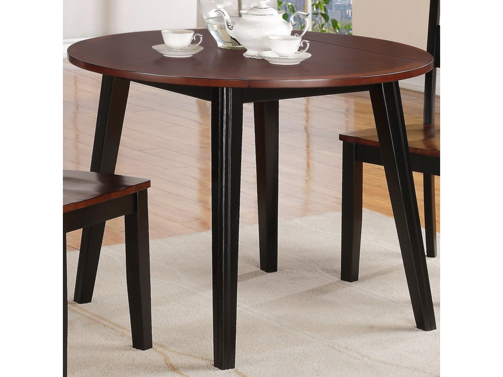 holland house 8202 round drop leaf table with splayed legs royal furniture kitchen table. Interior Design Ideas. Home Design Ideas