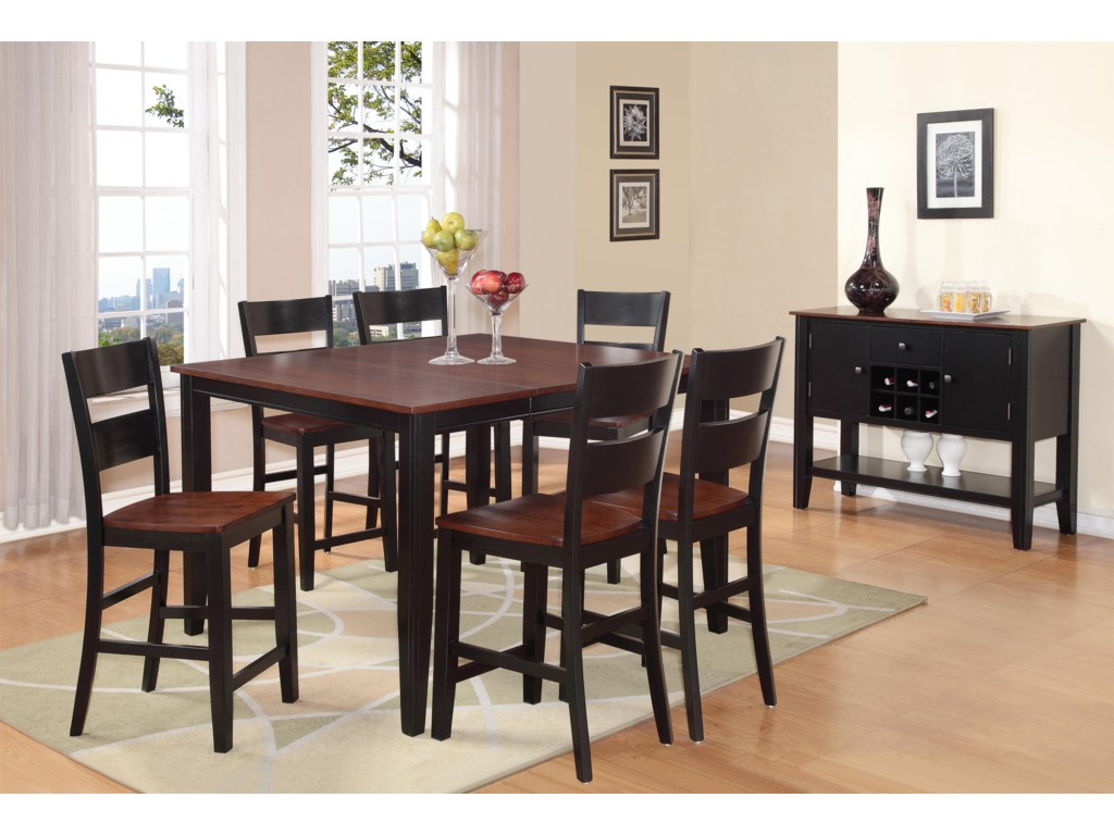 Holland House 82027 Piece Counter Height Dining Set