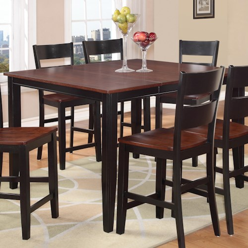 Holland House 8202 Square Counter Height Table with Tapered Legs