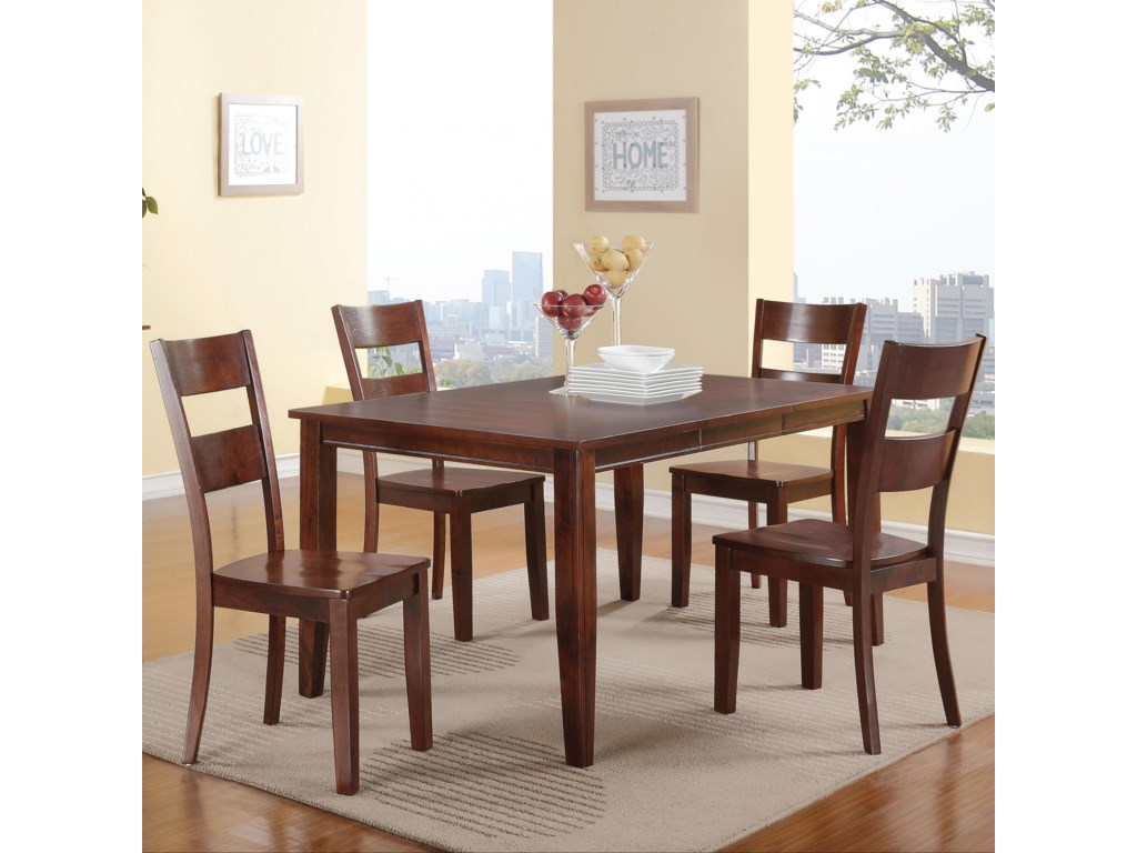 Hathaway Carey EspressoTable + 4 Chairs