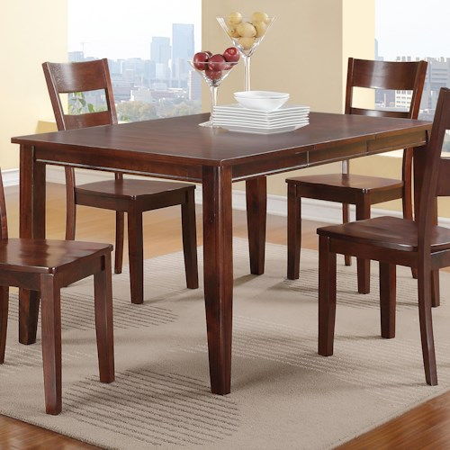 Holland House 8203 Rectangular Table with Tapered Legs