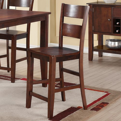 Holland House 8203 Counter Height Pub Chair with Tapered Legs