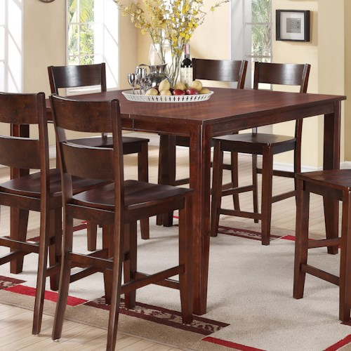 Holland House 8203 Square Counter Height Table with Tapered Legs