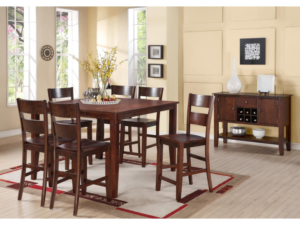 Hathaway Carey EspressoSquare Counter Height Pub Table
