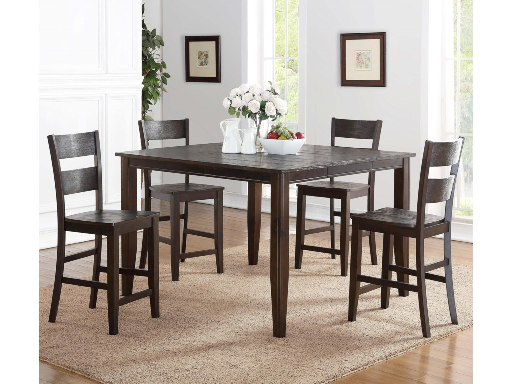 Holland House 82045 Piece Counter Height Dining Set