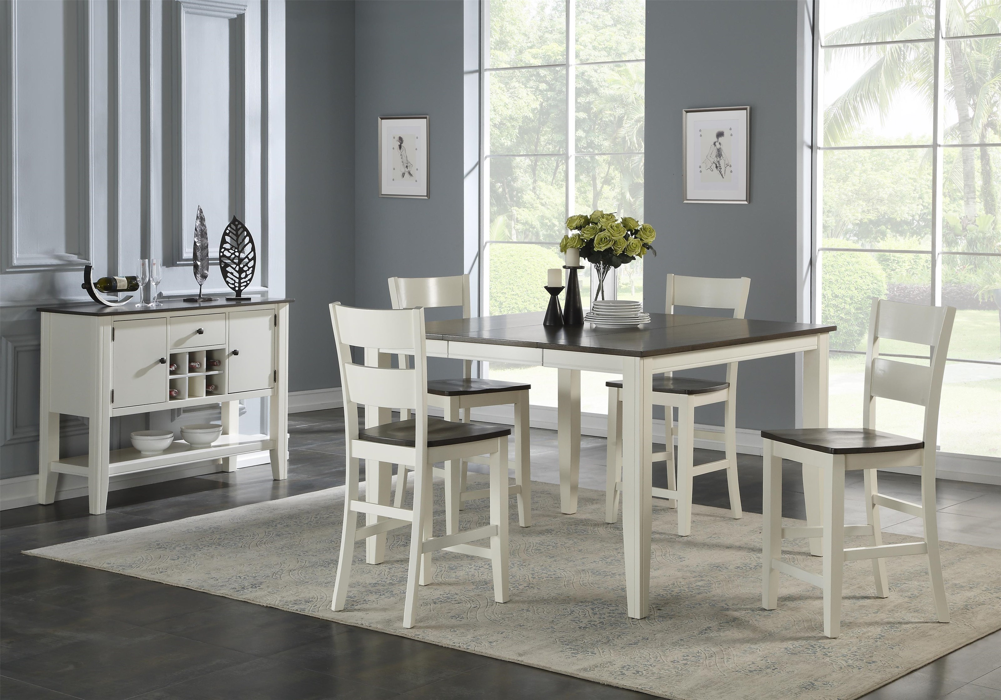 Counter Table + 4 Stools