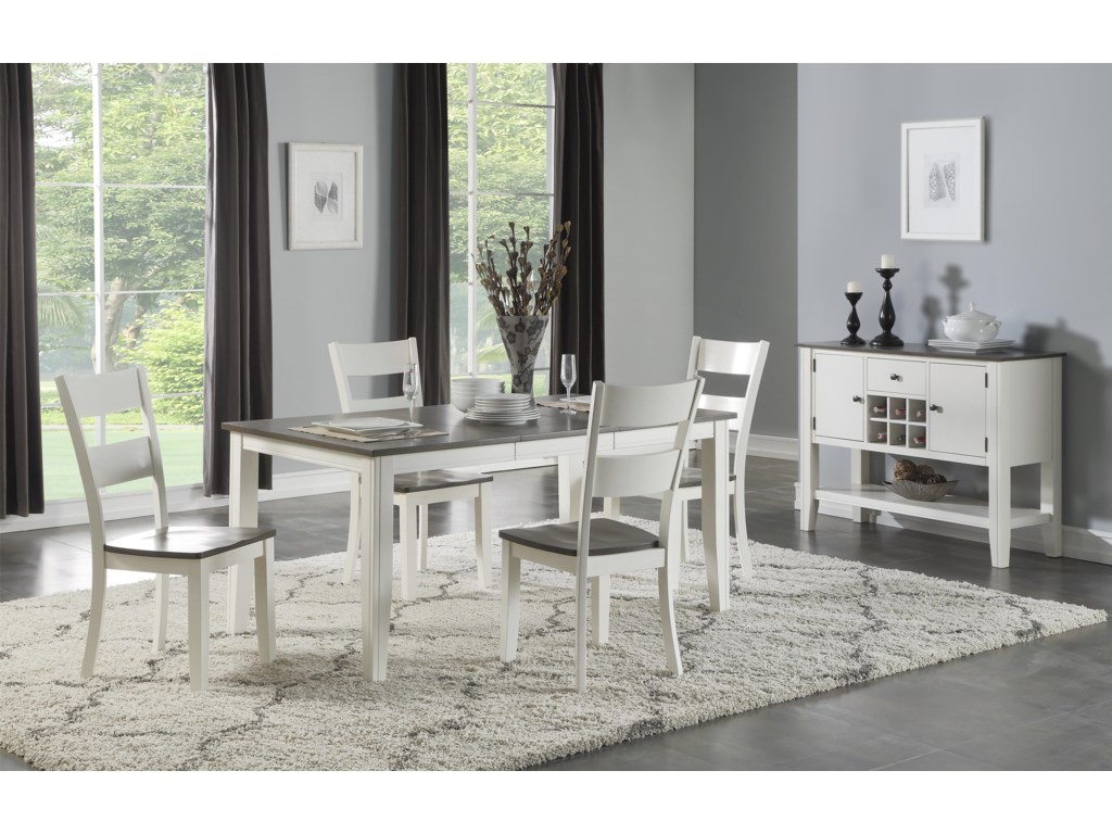 Hathaway Carey WhiteTable + 4 Chairs