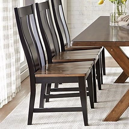 Warehouse M 9109 Solid Wood Dining Side Chair with Bentwood Back