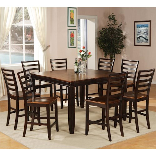 Holland House Adaptable Dining 9 Piece Casual Dining Set - Godby ...
