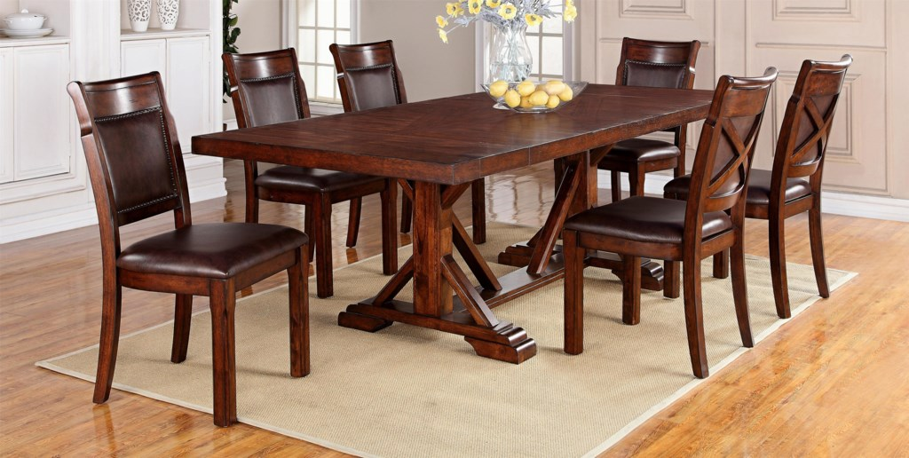 Warehouse m adirondack7 piece dining table set