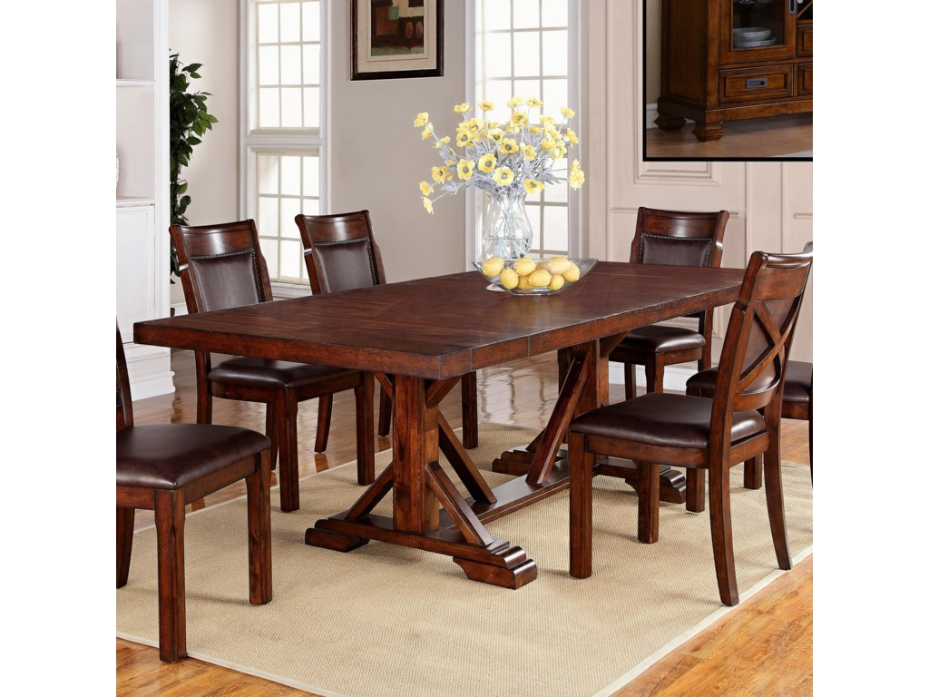 holland house adirondack trestle dining table with two leaves old brick furniture dining room table - Old Brick Dining Room Sets