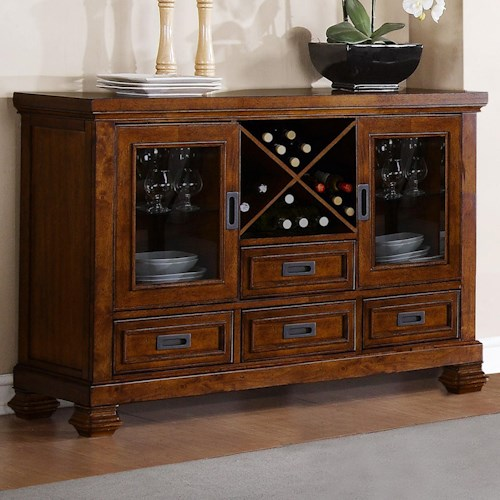 Warehouse M Adirondack Server with Wine Rack