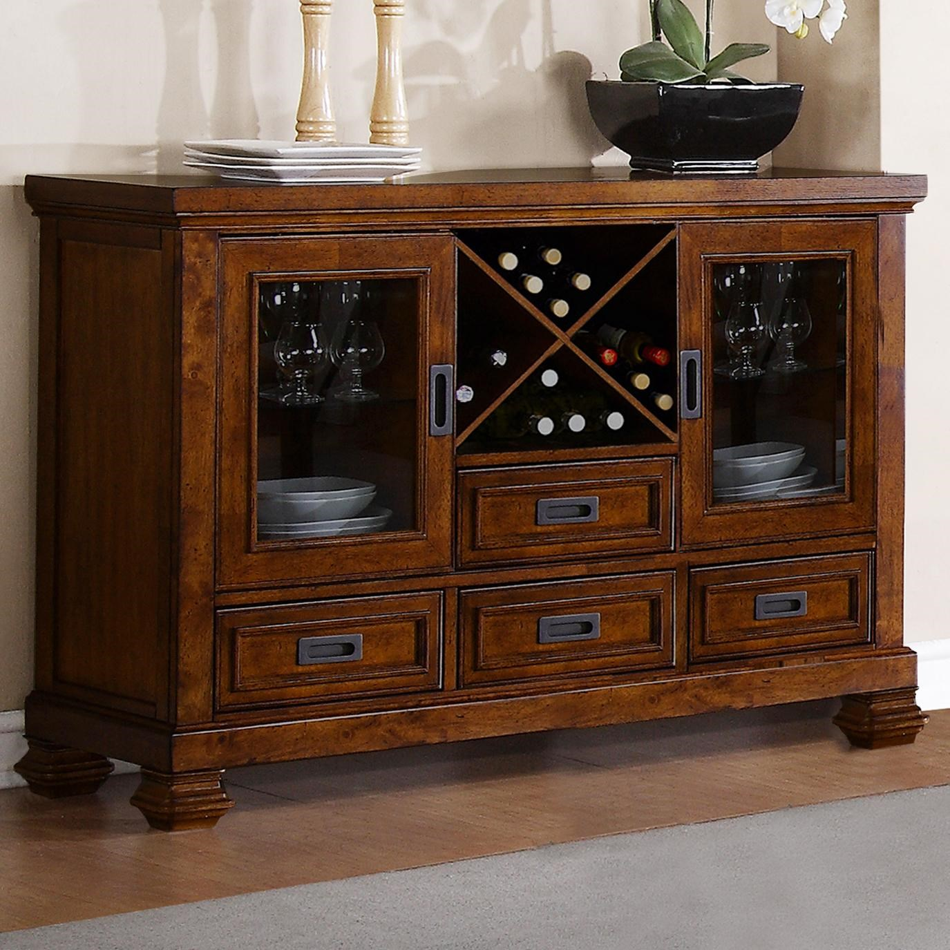 Adirondack Server With Wine Rack By Warehouse M