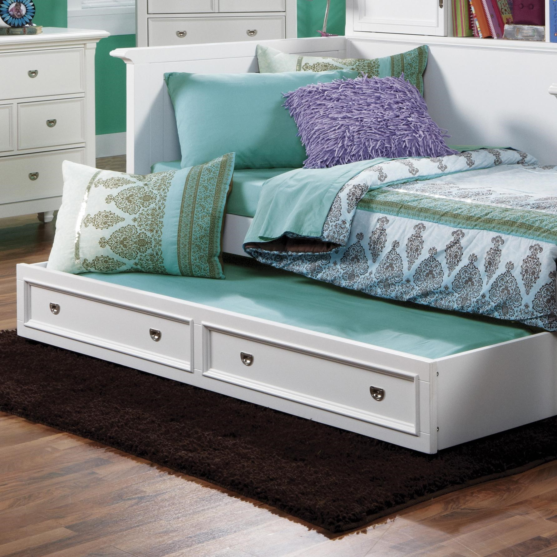 Beau Holland House Belmar Youth Storage Trundle Unit With Panel Detail
