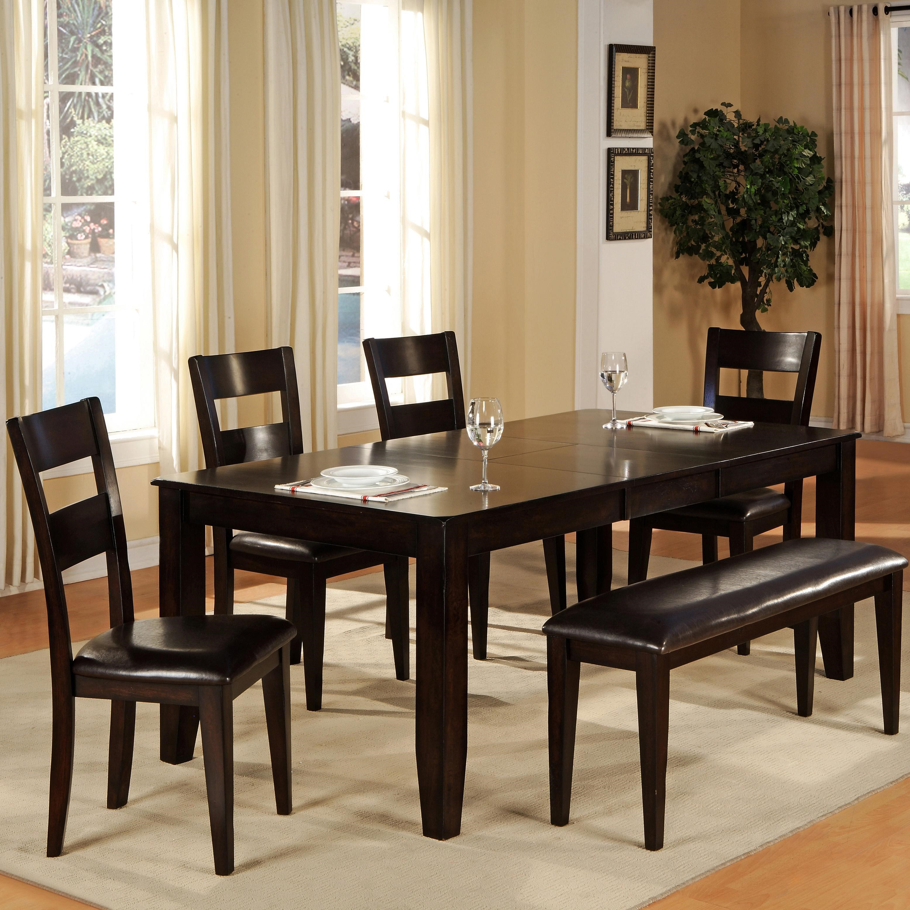 Holland House Willis Table + 4 Chairs + Bench
