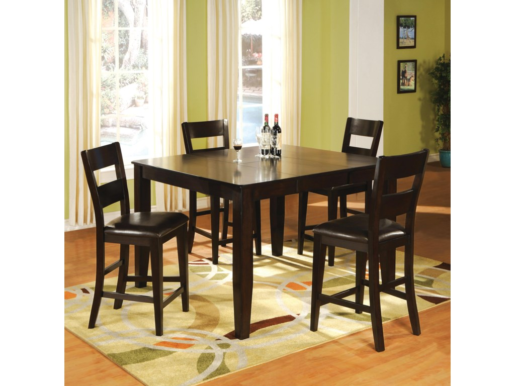 Holland House Bend5 Piece Pub Table and Chair Dining Set
