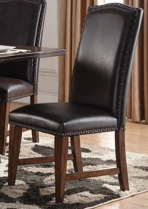 Morris Home Furnishings CrestonCreston Leather Side Chair