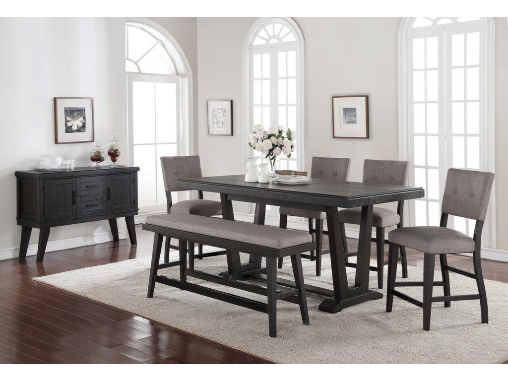Morris Home Furnishings Forest PlaceForest Place 5-Piece Counter Dining Set