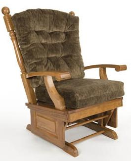Holland House Glider Rockers Oak Glider Rocker With Tufted