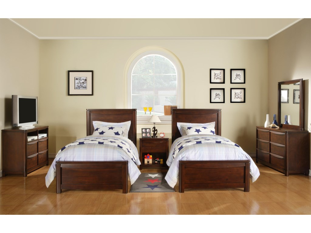 Shown as Set in Bedroom. Beds Shown May Not Represent Exact Size Indicated.