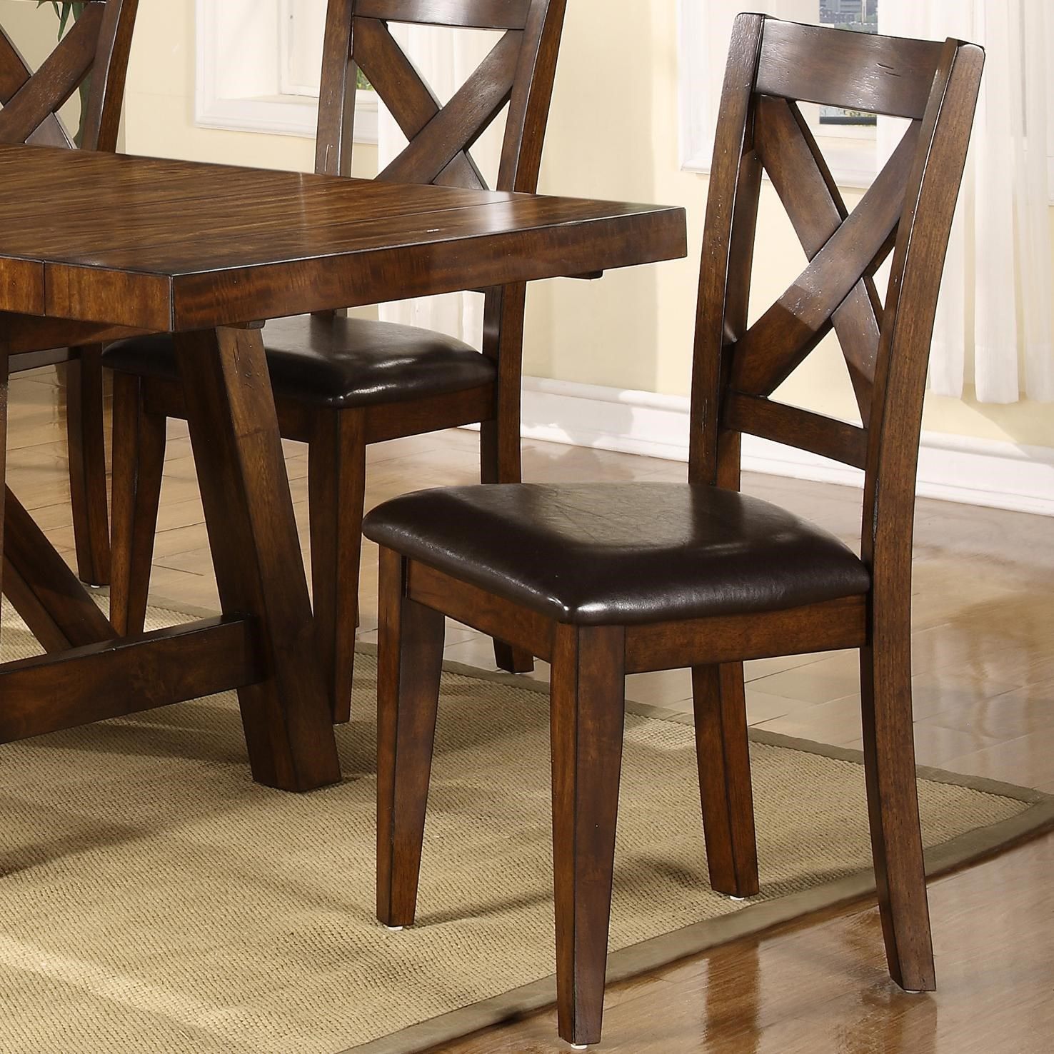 Holland House Lakeshore Dining Side Chair W/ X Back   John V Schultz  Furniture   Dining Side Chair