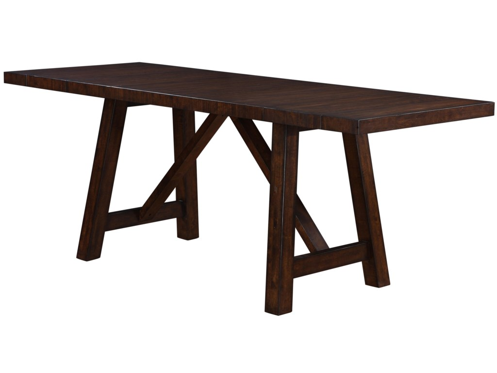 Holland House Lakeshore 1278 4296L Colonial Trestle Table W Leaves