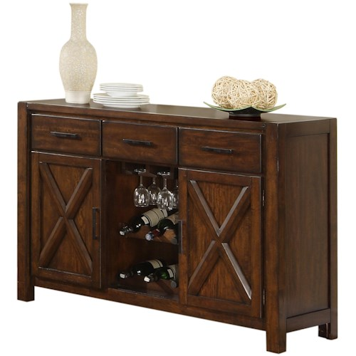 Holland House Lakeshore Dining Sideboard w  Wine Rack and Stem Glass Holder. Holland House Lakeshore Dining Sideboard w  Wine Rack and Stem
