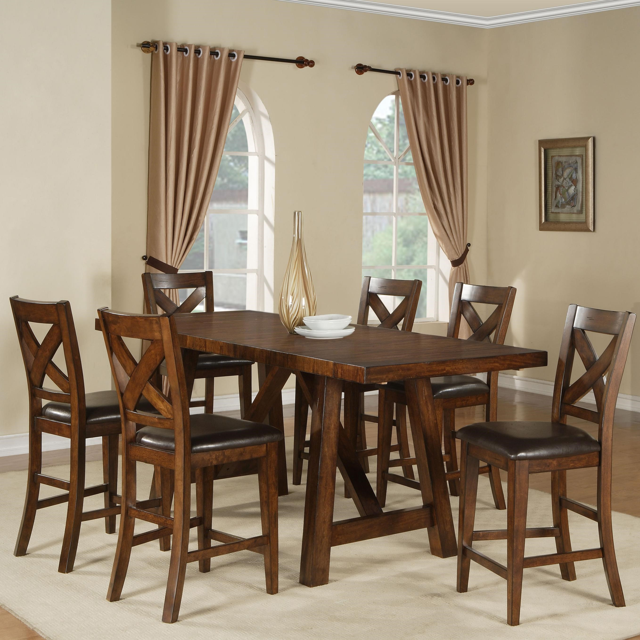 Holland House Lakeshore 7 Piece Counter Height Table And Stool Set