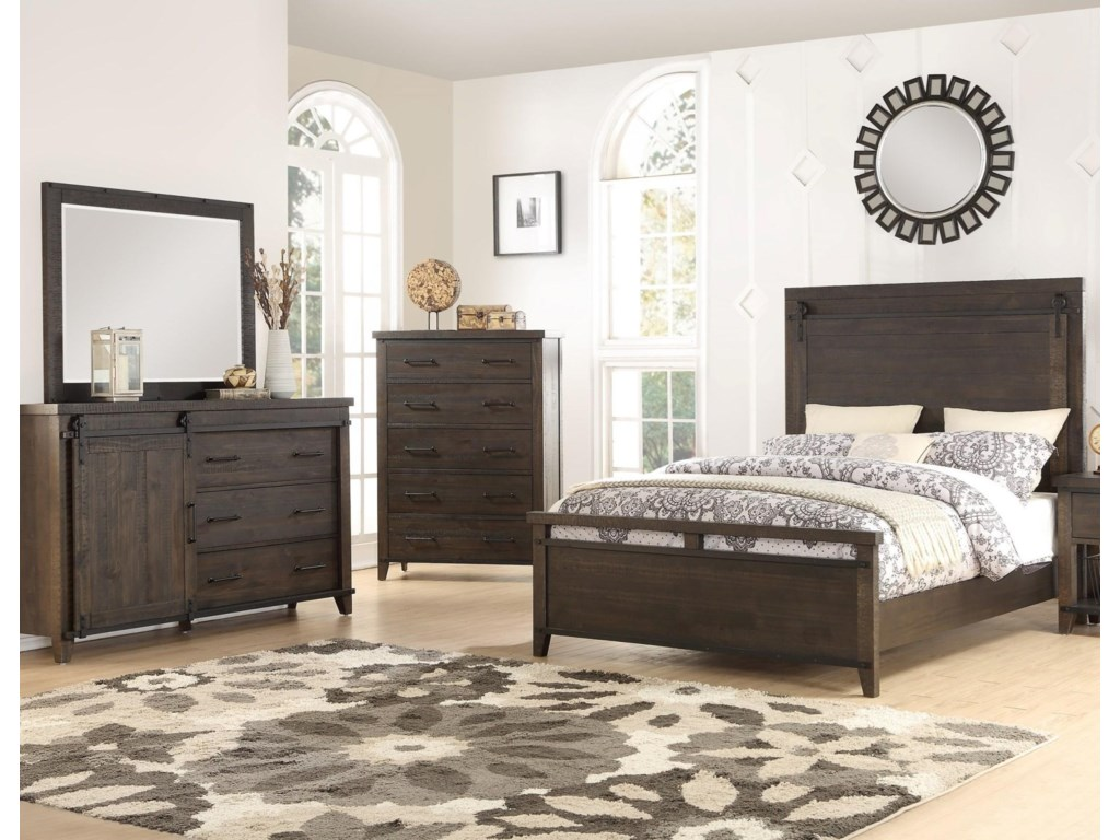 Holland House MontanaKing 5 Piece Bedroom Group