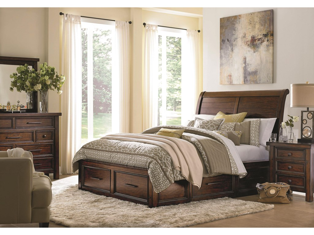 Morris Home Furnishings SorrentoSorrento King Sleigh Storage Bed