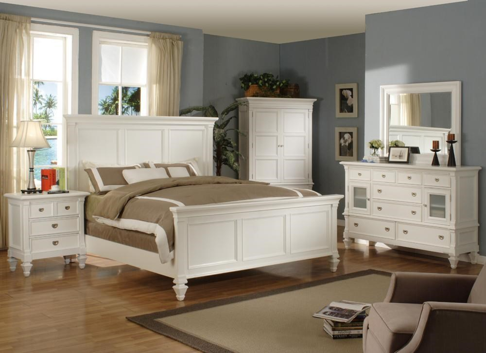Shown with matching Nightstand, Dresser, Mirror and Armoire.  Bed Shown May Not Represent Size Indicated.